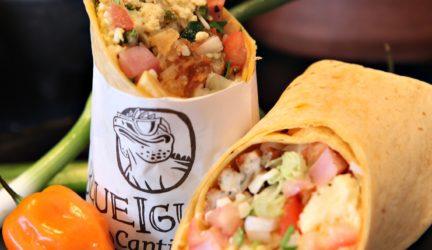 BlueIguana Mexican Cantina breakfest burrito