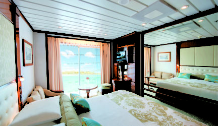 Balcony Stateroom (Category D) on The Gauguin.