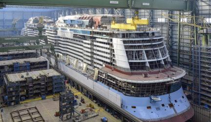Ovation of the Seas under construction Oct 2015
