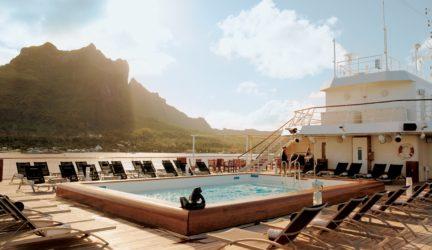 Bask in the Polynesian sun on the pool deck.