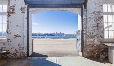 View of Sydney Harbour, Naval Store, Cockatoo Island. Credit – Zakarij Kacmarek